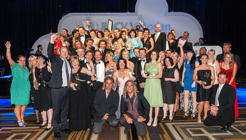 Winners on Stage RACV Victorian Tourism Awards 2012