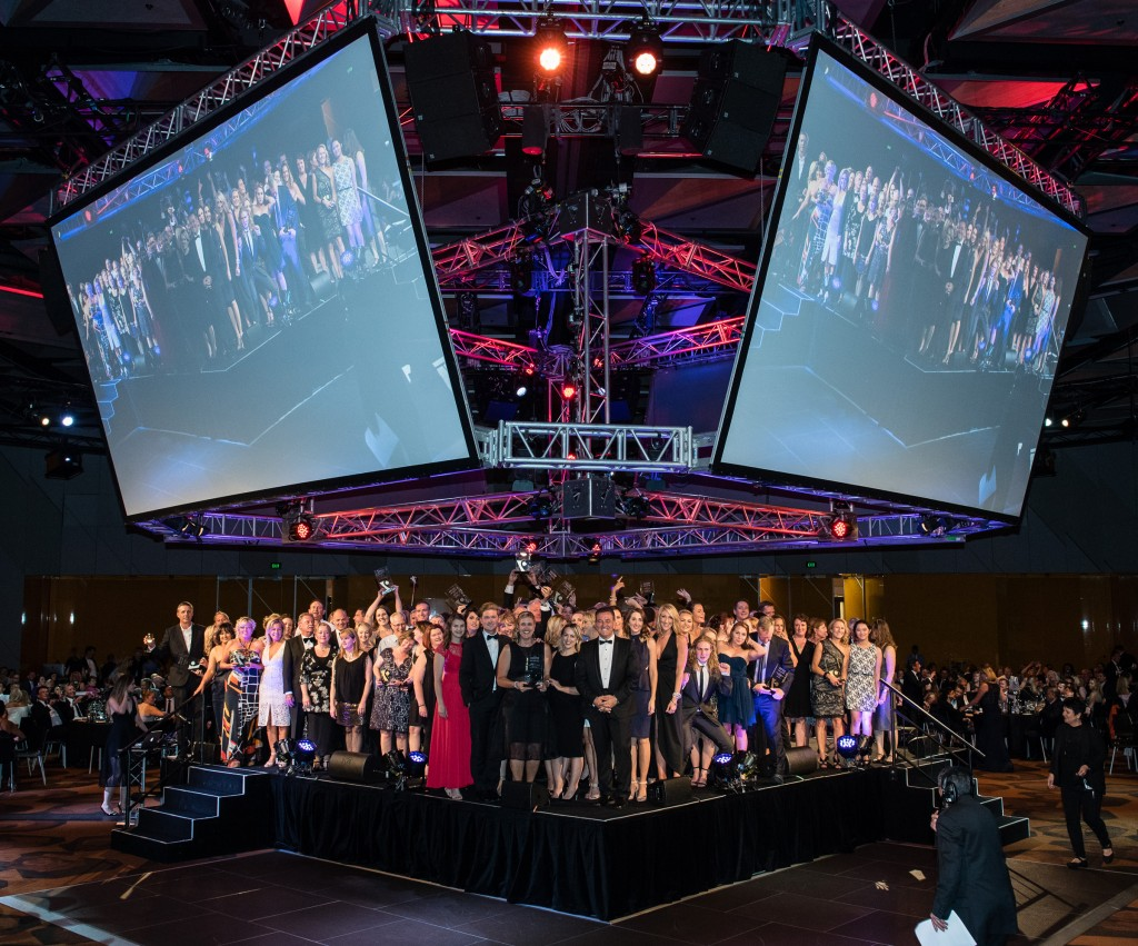 2015 RACV Victorian Tourism Award Winners on stage
